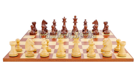 chess board set up to begin