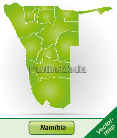 map of namibia with borders in