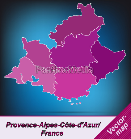 map of provence alpes cote d