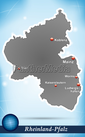 map of rhineland palatinate abstract background