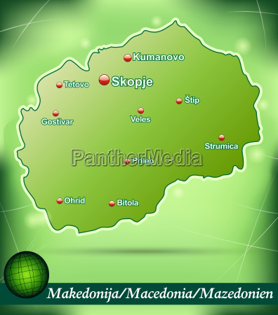 map of macedonia abstract background in