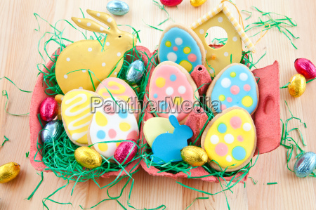 colorful cookies for easter