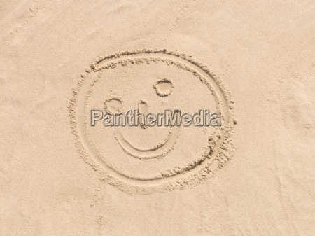 smiley in the sand