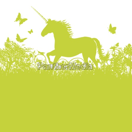 unicorn on pasture