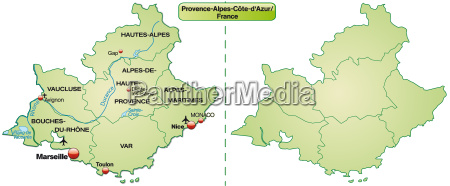 map of provence alpes cote dazur