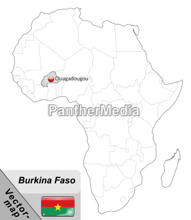 map of burkina faso with capitals