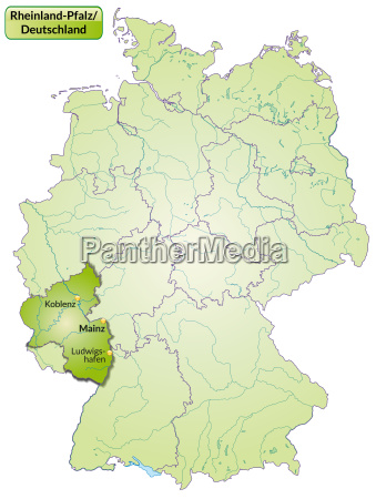 map of rhineland palatinate with capitals