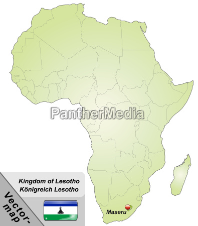 map of lesotho with capitals in