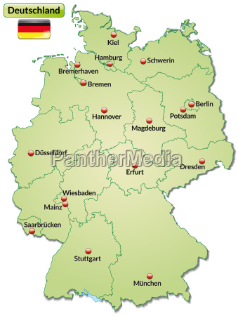 map of germany with capitals in