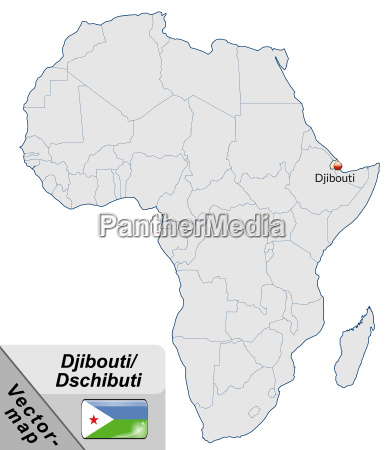 map of djibouti with capitals in