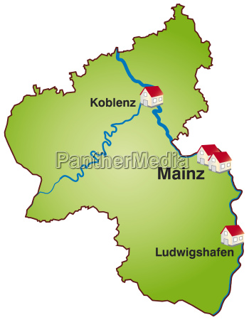 map of rhineland palatinate as infographic