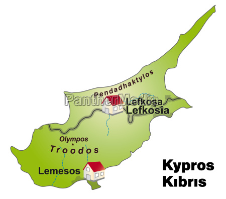 map of cyprus as infographic in