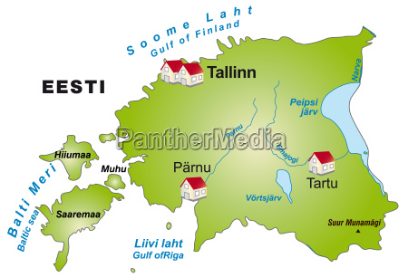 map of estonia as infographic in