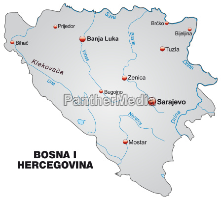 map of bosnia and herzegovina as