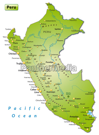 map of peru as a map