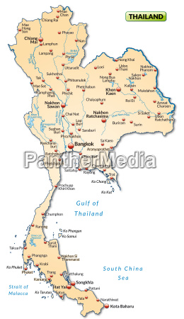 map of thailand as an overview
