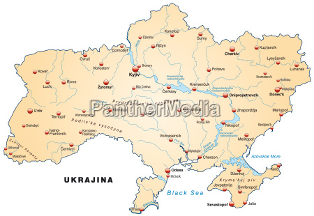 map of ukraine as an overview