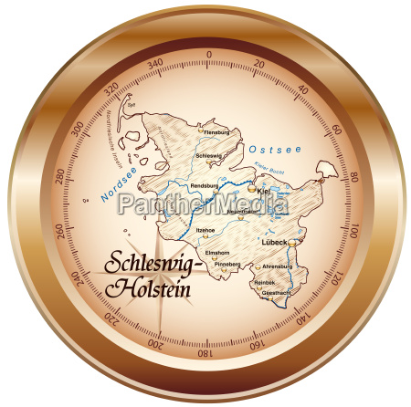 map of schleswig holstein as an