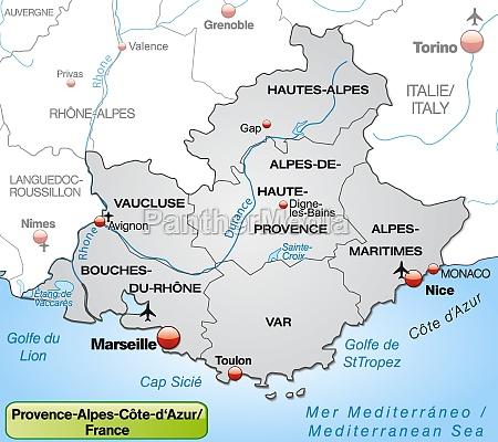map of provence alpes cote dazur