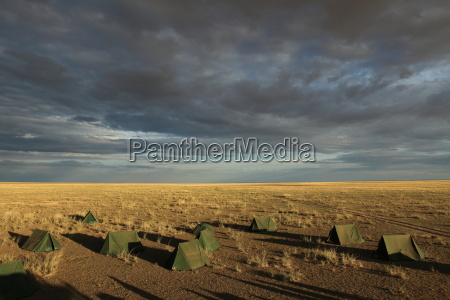 tent camp in the mongolian steppe