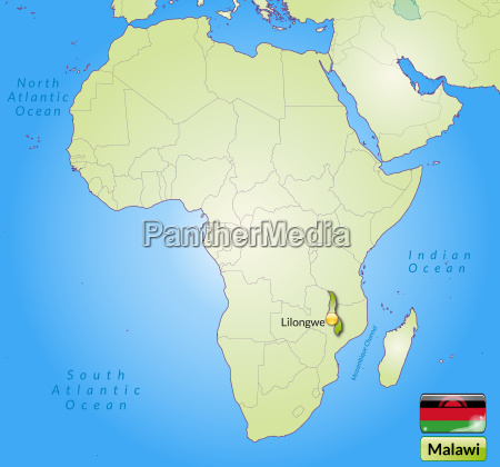map of malawi with capitals in