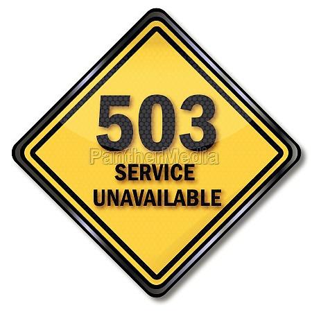 computer plate 503 service unavailable