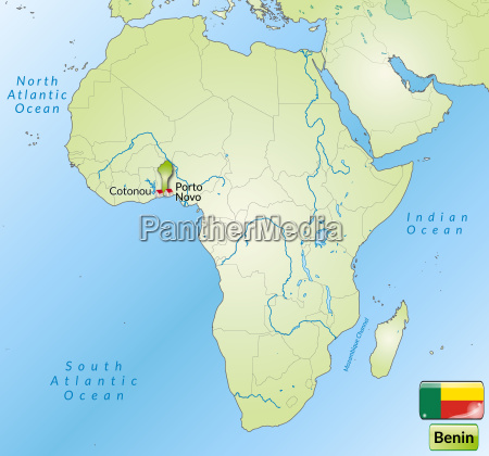 map of benin with capitals in