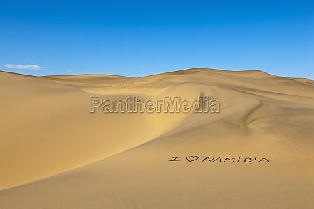 i love namibia coastal dune belt