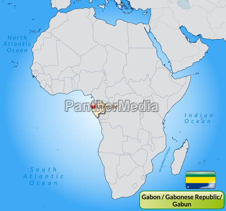 map of gabon with capitals in
