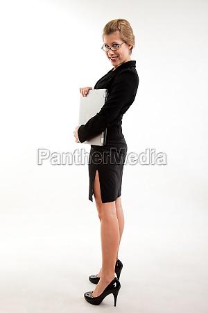 attractive twenties caucasian businesswoman