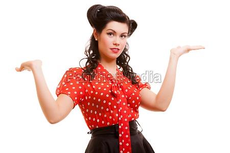 retro pin up girl young woman