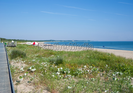 on the beach of swinoujscie and
