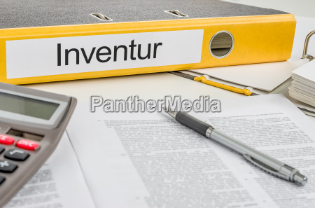 file folder with the caption inventory