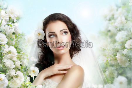 sentiment perfect exquisite woman with flowers