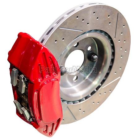mechanism of automobile disc brakes