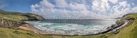 panorama from the beach slea head