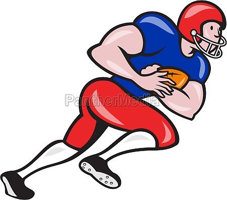 american football running back rushing