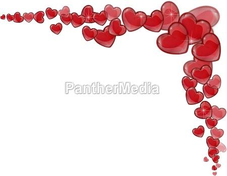 corner of hearts valentines day