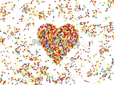 sprinkles colorful heart