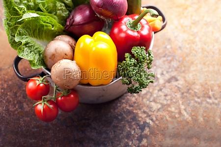 healthy vegetarian ingredients vegetables