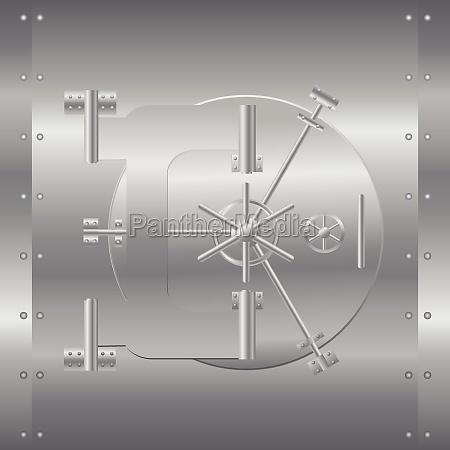 bank safe vector illustration