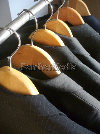 row of mens suit jackets