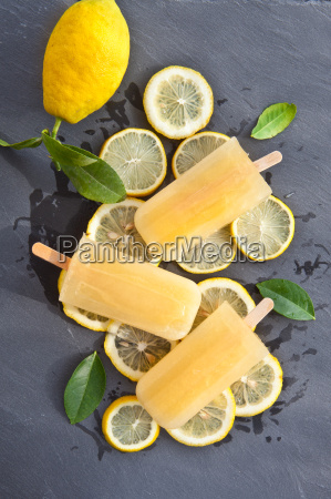 fresh lemon ice lolly