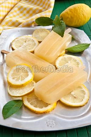 fresh lemon ice lolly