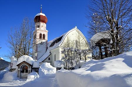 church in tyrol winter