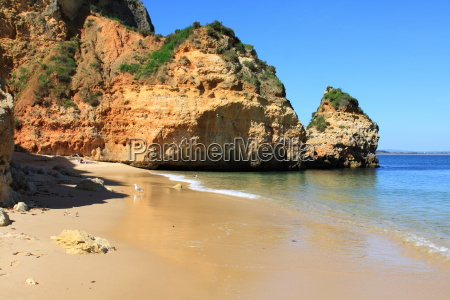 dona, ana, beach, in, lagos, algarve, portugal - 11073155