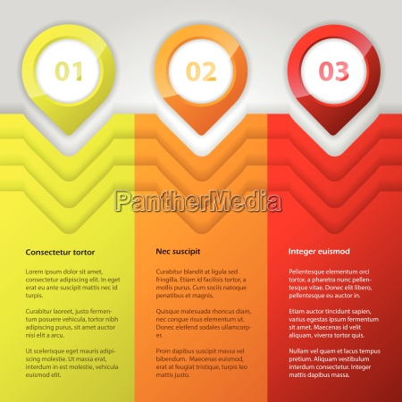 cool infographic design with bright colors
