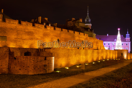 old town fortification in warsaw at