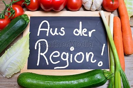 table vegetables regional