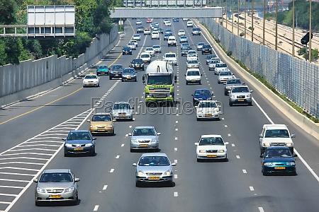 freeway traffic tel aviv israel